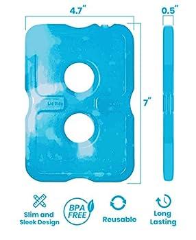 Sac de glace pour boîte à repas - Pochette de glace - Sac de glace original | Sacs de glace mince et durable pour votre sac à repas ou glacière (lot de 4)