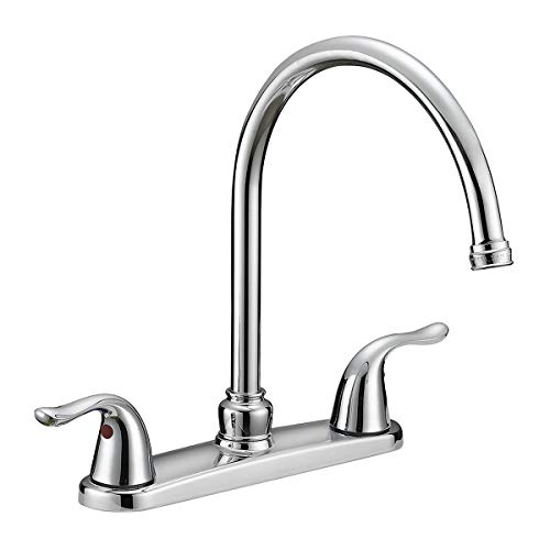 EZ-FLO 10201 2-Handle Kitchen Faucet with Pull-Out Side Sprayer, Chrome, 4-Hole Installation