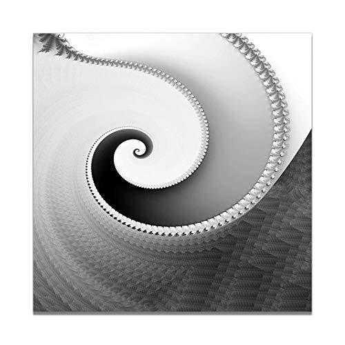 SYLSBAZGYS Noir Blanc Whirlpool Vortex Affiche Toile Impression Peinture Mur Art Salon décoration de la Maison Pas de cadre-50X50 cm