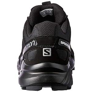 Salomon Women's Speedcross 4 Trail Running Shoes, Black/Black/BLACK METALLIC, 8.5
