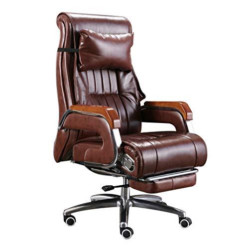 Chair Bürostuhl, ergonomisch gestalteter Massagestuhl, längere Lebensdauer der Rindslederoberfläche, komfortable 7-Punkt-Vibrationsmassage eignet Sich sehr gut für Büro- und Freizeitaktivitäten