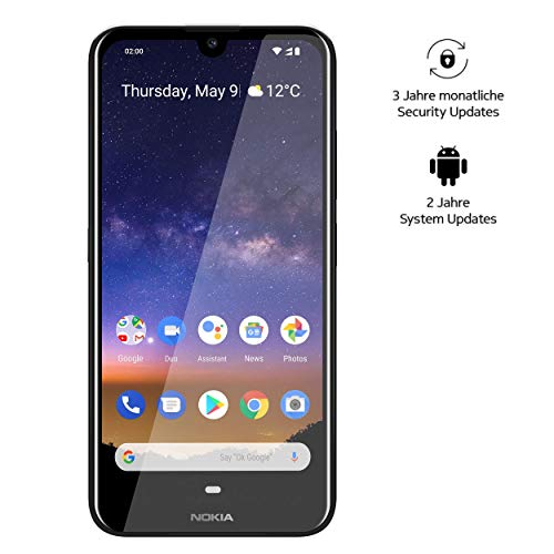 Smartphone Double SIM 4G Nokia 2.2 NO2P2-S 16 Go 5.71 Pouces (14.5 cm) Double SIM Android™ 9.0 13 Mill. Pixel Noir 1 pc(