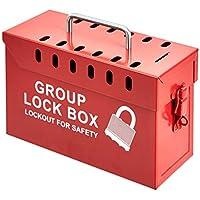 AmazonCommercial 13-Hole Group Lockout Box (GLB02)