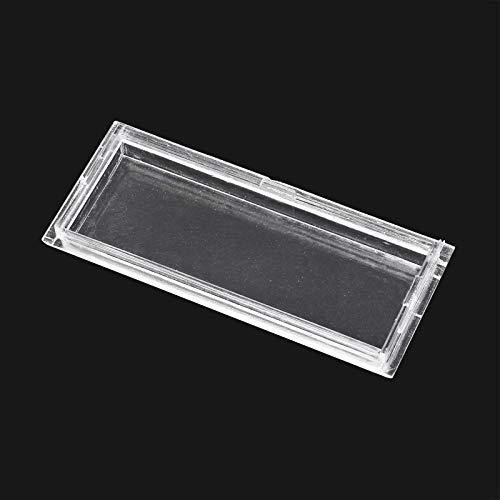 Cubierta de repuesto para placa identificación de buzón, transparente, tamaño perforaciones 60x23mm