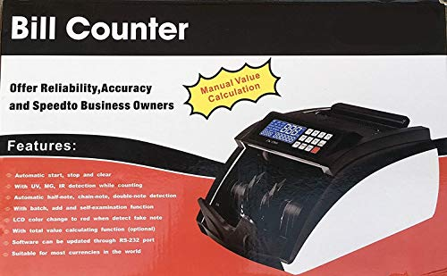 Metis Manual Note Counting Machine with Fake Note Detection Feature, Counts Indian Rupee, US Dollar & Euro Currency, Color Blue