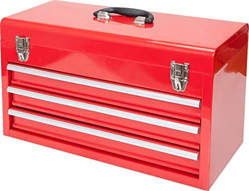 BIG RED ANTBD133-XB Torin - Caja de herramientas portátil de acero con 3 cajones (50,8 cm), color rojo