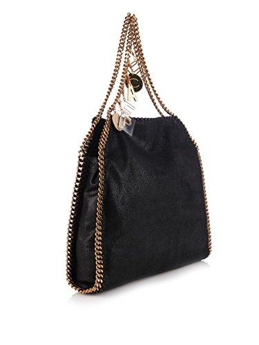 Stella Mccartney Black Vegan Gold Peace Handbag Bag