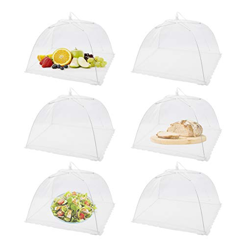 FOOEN (6 Pack) Pop-Up Picnic Mesh Food Covers Tent...