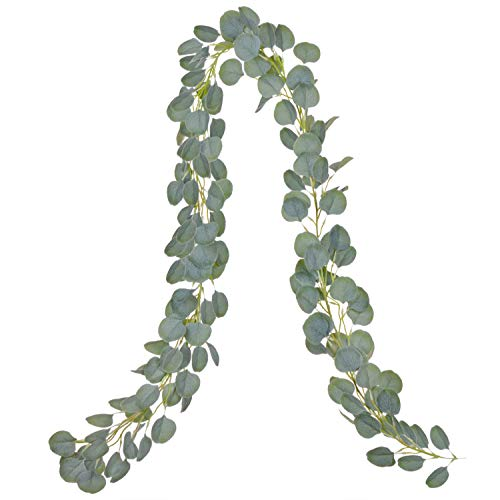DearHouse Artificial Eucalyptus Garland Faux Silk Eucalyptus Leaves Vines Handmade Garland Greenery...