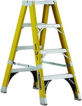 Louisville Ladder 4-Foot Fiberglass Rhino Twin Front Ladder
