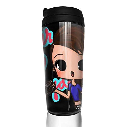 shenguang Chaxiedou Cher Lloyd Cup Vaso con impresión 3D Taza de viaje Taza con aislamiento portátil de doble pared al vacío