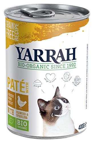 YARRAH Bio Katzenfutter Pate mit Huhn- 12 x 400 gr