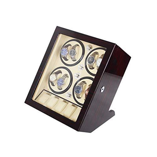 ZHANGYH Caja de almacenamiento de reloj mecánica con motor silencioso, caja de almacenamiento de 8+5 relojes, caja de regalo (color: blanco)