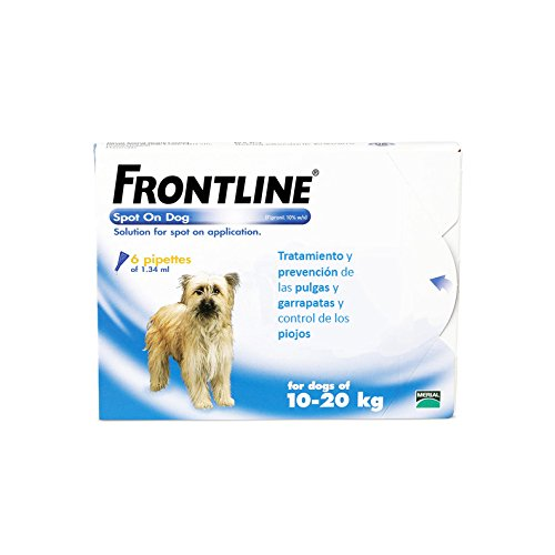 Frontline Spot On Chiens 10-20 kg Protection Totale. 6 pipettes