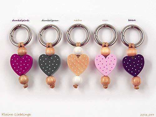 Schlüsselanhänger - mit Namen möglich - handmade - Kinder - Erwachsene - Taschenbaumler - Herz - Schlüsselring - verschiedene Farben