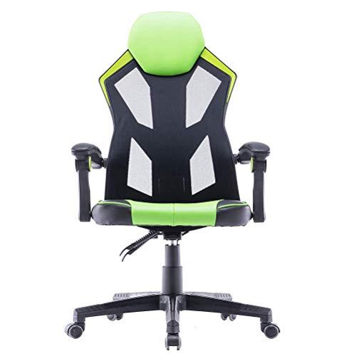 Sedia da scrivania ergonomica ufficio da gioco con poggiapiedi imbottiti (ruota)