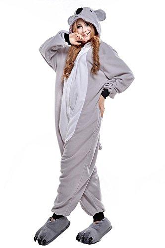 ABYED® Kostüm Jumpsuit Onesie Tier Fasching Karneval Halloween, Koala - 3