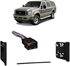 Compatible with Ford Excursion 2000-2005 Double DIN Harness Radio Install Dash Kit