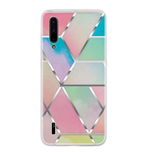Tosim Xiaomi Mi 9 Lite / CC9 Marmor Silikon Hülle, Weich Schutzhülle Antirutsch Stoßfest TPU Bumper Case Cover Kompatibel mit Xiaomi Mi 9 Lite - TOQXU010870 T7