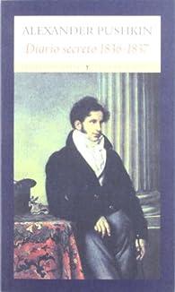 Diario secreto par Alexander Pushkin