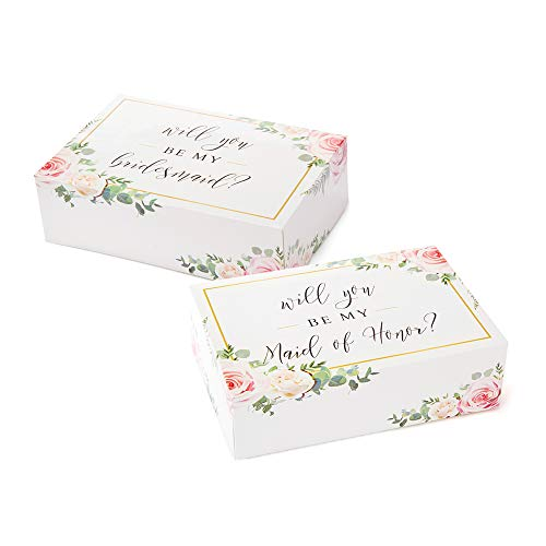 Bridesmaid Boxes- Floral (6 pack)