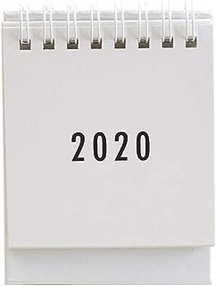 NUOBESTY Desk Calendar 2020-2021,Simple Design Standing Desktop Year Calendar Organizer Flip Daily Scheduler(White)