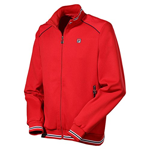 Fila Herren, Joe Trainingsjacke Rot, Weiß, M Jacken, M