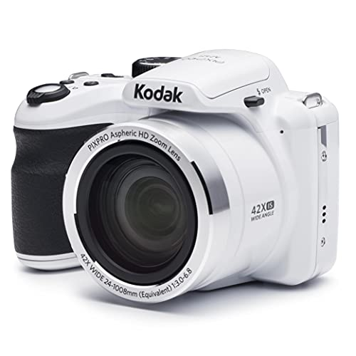 KODAK PIXPRO Astro Zoom AZ421-WH 16MP Digital Camera with 42X Optical Zoom and 3' LCD Screen (White)