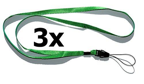 Collar Correa Correa Correa (3unidades Verde) para pequeñas móviles, reproductor de mp3, llaves, DNI, memorias USB, silbato, brújula