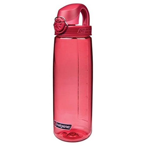 Nalgene Tritan On The Fly Water Bottle, Petal with Beet Red, 24Oz