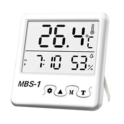 YIFEIJIAO, Higrómetro termómetro LCD digital temperatura humedad metro reloj