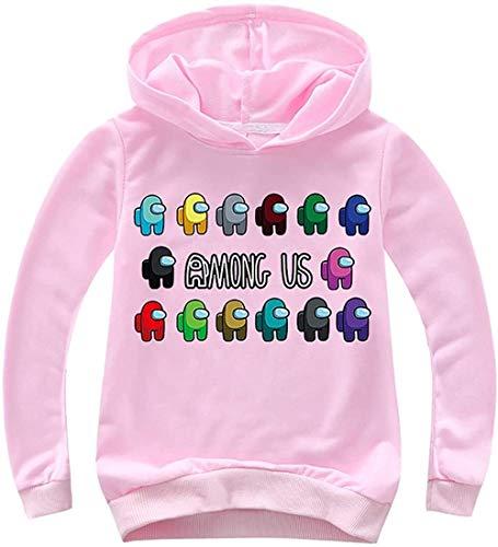 XXHDEE Sudaderas con capucha para niños de color sólido con estampado de Game Among Us para adolescentes (color: 2, tamaño: 120)