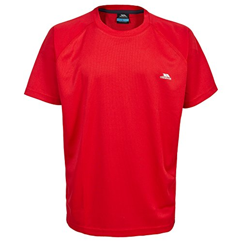Trespass Debase T-Shirts Homme, Rouge, FR (Taille Fabricant : XXS)