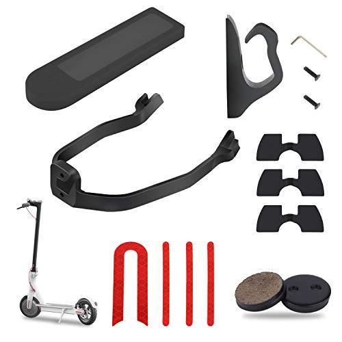 Yungeln 6er Set Scooter Einzelteil Gummi Vibrationsdämpfer, Fronthaken, Schutzblechhalterung, Silikonhülle, Bremsbelag, Reflektor Sticker kompatibel für Xiaomi 1S / M365 / Pro Elektroscooter