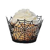 BinaryABC Halloween Cupcake Wrappers,Spider Web Cupcake...