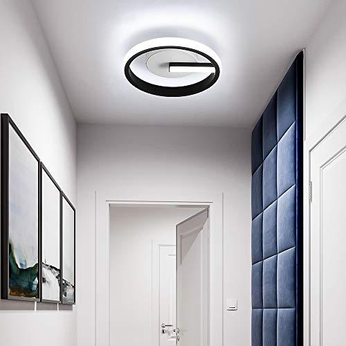 Osairous LED Lámpara de Techo, Plafón de Techo Moderna 18W, Ø20CM Plafon LED Acrílico para Dormitorio Cocina Pasillo, Blanca Fria 6000K
