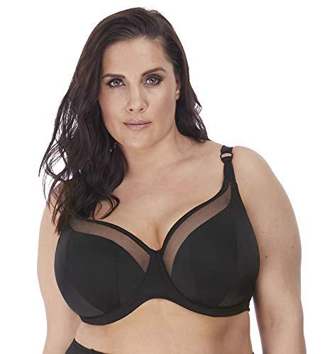 Elomi Plus Size Magnetic Sweetheart Bikini Top, 40GG, Black