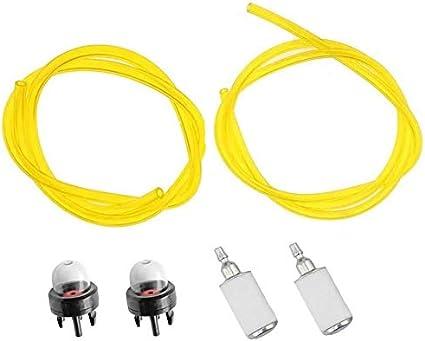 YUSHIJIA Varios Modelos Bombilla de imprimación de Filtro de Manguera de línea de Combustible para Flymo XLT3000 XLT3000 + Multi Tool 530047721, 530069216, 530069216, 530095646 Partes y Accesorios