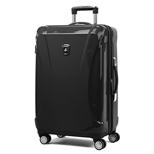Atlantic Luggage Atlantic Ultra Lite Hardsides 24' Spinner Suitcase, jade black, Checked Medium