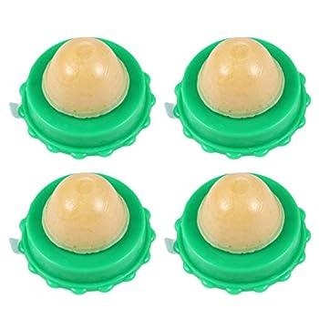 VILLCASE Collation de Chat Léchant La Boule de Sucre Friandises Interactives pour Chat Bonbon à Lherbe à Chat Paquet de 4 Balles Énergétiques en Gel de Nutrition Solide