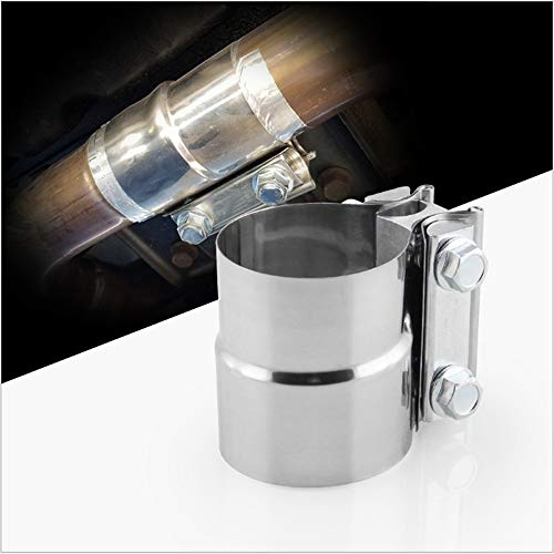 1x Abrazadera de escape 57mmx63mm [2.25 \'\' x2.5 \'\'] Conector de tubo Steel Steel Clam Joiner Versión para trabajo pesado