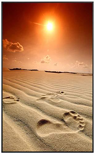 Ecowelle Infrarotheizung mit Bild | 500 Watt | 80x60x3cm | Infrarot Heizung| | Made in Germany | d 2 Sonnenuntergang am Strand