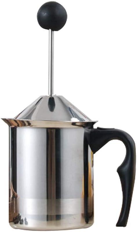 Manual Milk Frother Sauce Pot 400 600ml Stainless Steel Hand Pump Milk Foamer Milk Frothing Pitchers DIY Fancy Coffee Cream Coffee Foamer