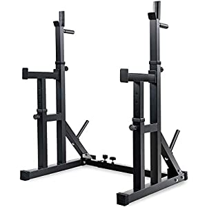 Adjustable Barbell Rack Multifunction Squat Rack Stands Barbell Bench Press Dipping Station Home Gym