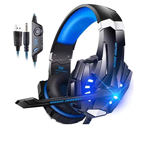 PRO2SONIC G900 KOTION Each Pro Gaming Headset Headphone for Playstation, PS4, Tablet, Xbox, Laptop, Smartphone, 3.5mm sterephone, Noise Cancelling Earphone with mic, LED Light