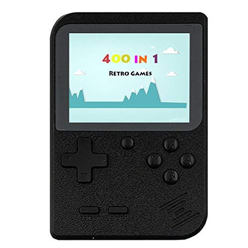 Fiotasy Consola de videojuegos portátil, 400 juegos clásicos, pantalla LCD de 2,8 pulgadas, portátil, retro, compatible con conexión a la conexión de TV para niños y adultos