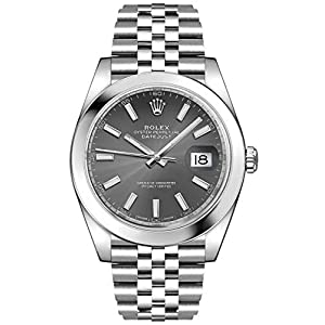 Fashion Shopping Men's Rolex Datejust 41 Dark Rhodium Oystersteel Watch (ref. 126300)