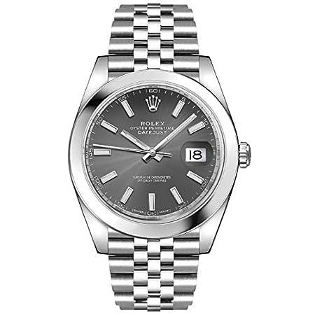 Fashion Shopping Men's Rolex Datejust 41 Dark Rhodium Oystersteel Watch (ref. 126300)
