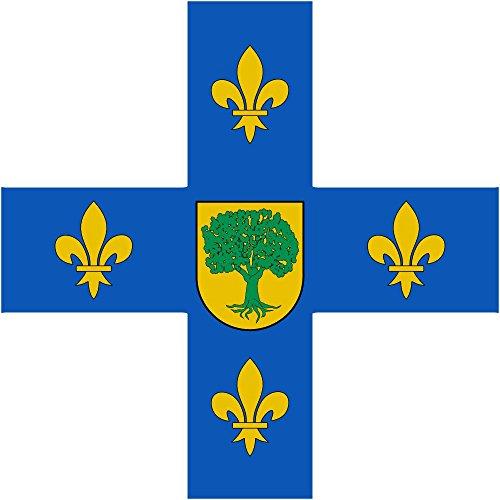 magFlags Bandera Large De Plata Cruz de Azur cargada de Cuatro lises de Oro | 1.35m² | 120x120cm