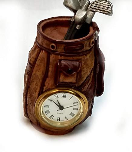 Home For ALL The Holidays Decorative Mini Desk Clock (Golf Bag)